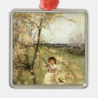 Spring, c.1880 Silver-Colored square decoration