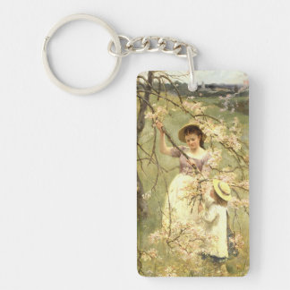 Spring, c.1880 Double-Sided rectangular acrylic key ring