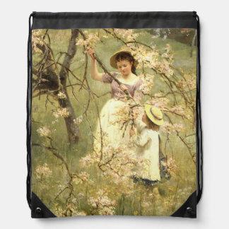 Spring, c.1880 drawstring bag