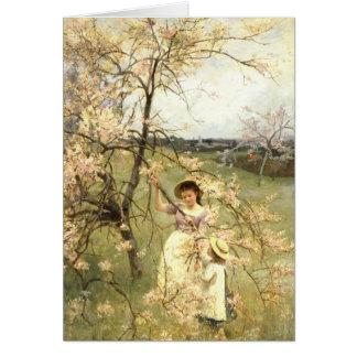 Spring, c.1880 greeting card