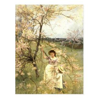 Spring, c.1880 postcard