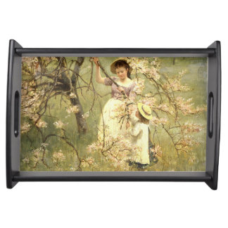 Spring, c.1880 serving trays