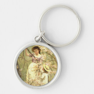 Spring, c.1880 Silver-Colored round key ring