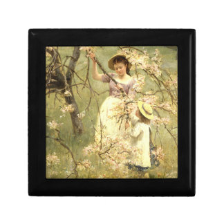Spring, c.1880 small square gift box