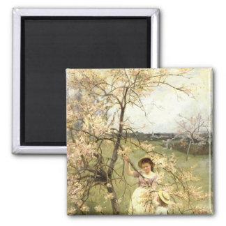 Spring, c.1880 square magnet