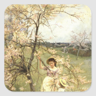 Spring, c.1880 square sticker