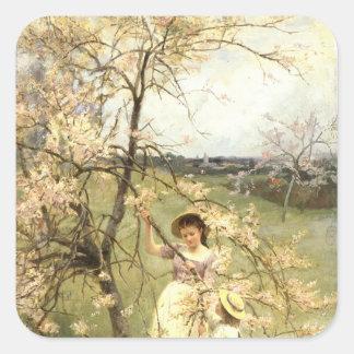 Spring, c.1880 square sticker
