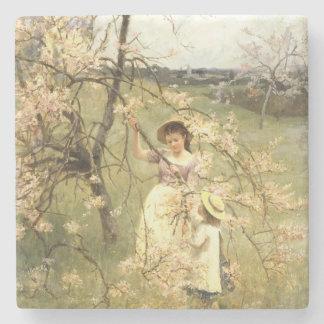 Spring, c.1880 stone coaster