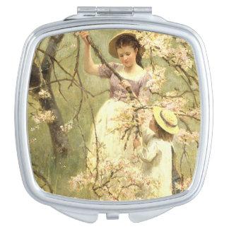 Spring, c.1880 travel mirror