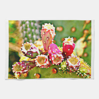 Spring Cactus Bulbs Kitchen Towel