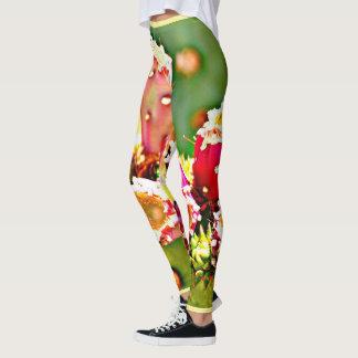 Spring Cactus Bulbs Women's Leggings