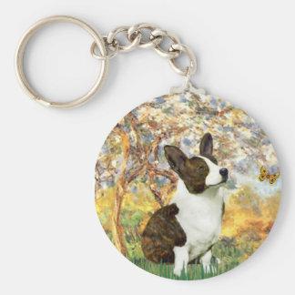 Spring - Cardigan Welsh Corgi 5 Key Ring