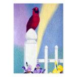 Spring Cardinal Art Card Business Card Template