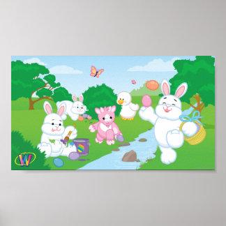 Spring Celebration Egg Hunt Poster