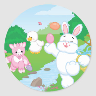 Spring Celebration Egg Hunt Round Sticker