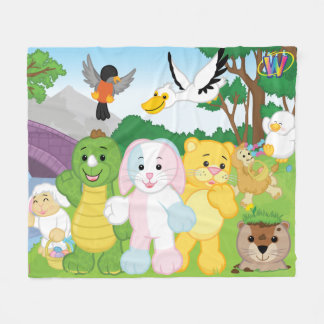 Spring Celebration in the Kinzville Park Fleece Blanket