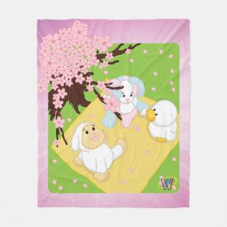 Spring Celebration Picnic Fleece Blanket
