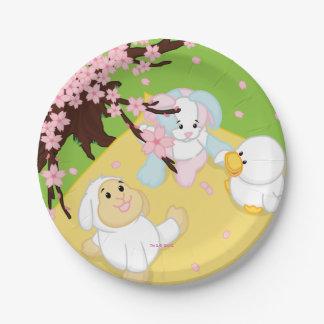 Spring Celebration Picnic Paper Plate