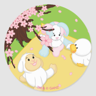 Spring Celebration Picnic Round Sticker