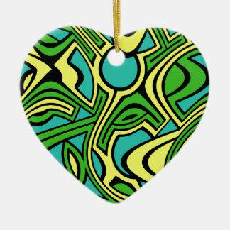Spring Ceramic Heart Decoration