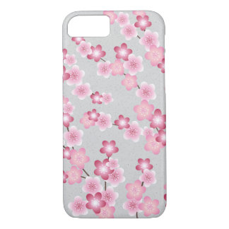 Spring Cherry Blossom Blooms on Grey iPhone 8/7 Case