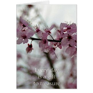 Spring Cherry Blossom Floral Card