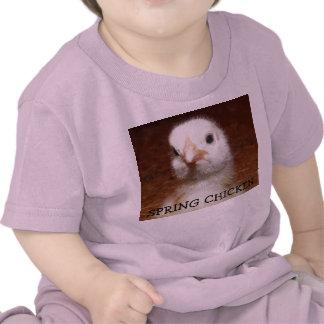 Spring Chicken - Baby Chick on Kids Tee