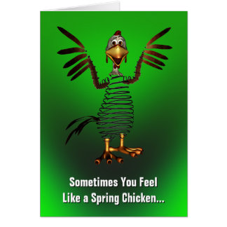 Spring Chicken Get Well Greeting Card