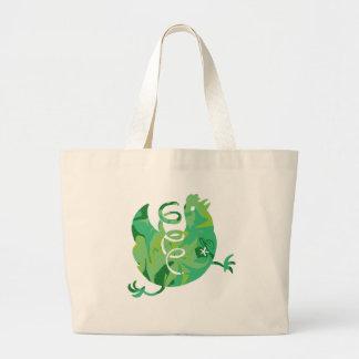 spring chicken large tote bag