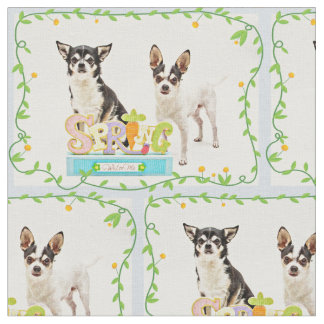 Spring Chihuahua's Fabric