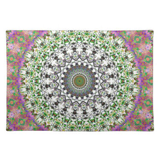 Spring Circle And Grwoth Kaleidoscope Placemat