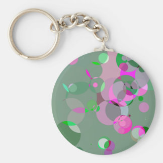 Spring circles keychains