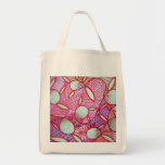 Spring Cling Grocery Tote Bag