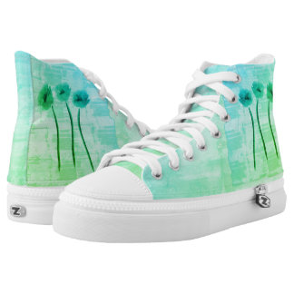 Spring Collection Mint Watercolor Shoes