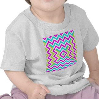 Spring color Chevron pattern Tshirt