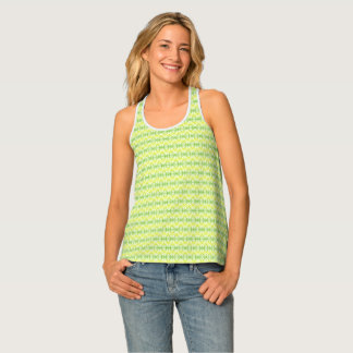 Spring colors bicycle wheel pattern tank top