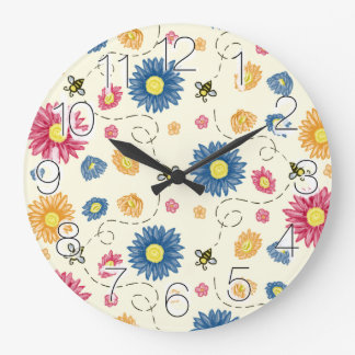Spring Colors Large Clock