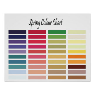Spring Colour Chart Poster