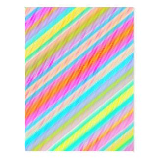 Spring Colours Multi Thread Digital Art Postcard 2