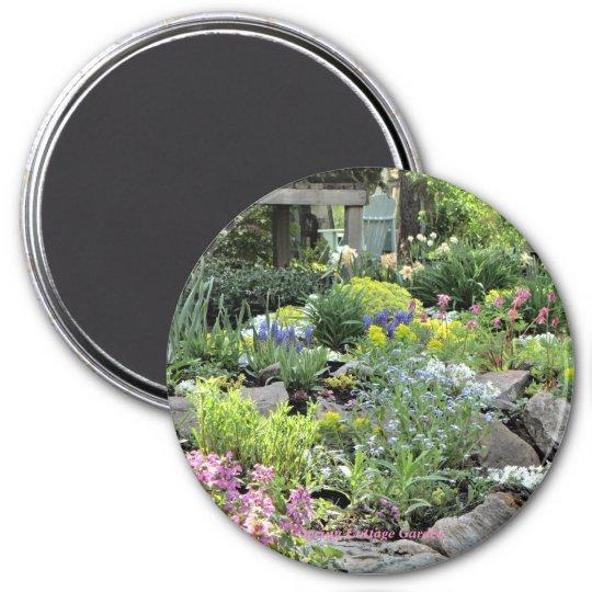 Spring Cottage Garden PhotOriginal Magnet