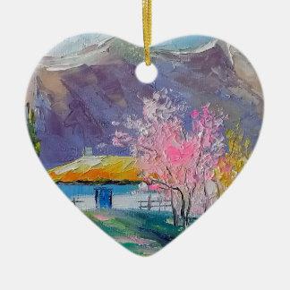 Spring Crimea Ceramic Heart Decoration