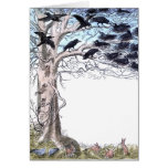 Spring Crows and Bunnies Greeting Card