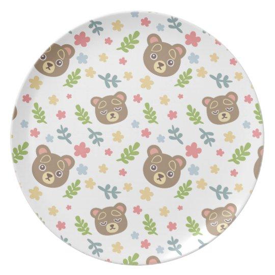 Spring Cute Bear Plate