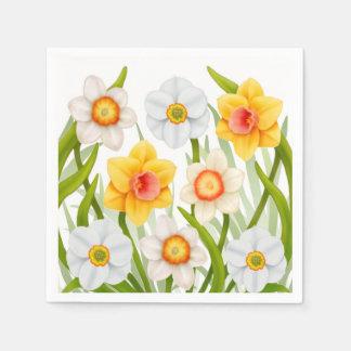 Spring Daffodil Flowers Napkins Disposable Serviette