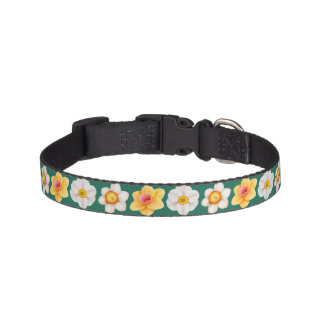 Spring Daffodil Flowers Pet Collar