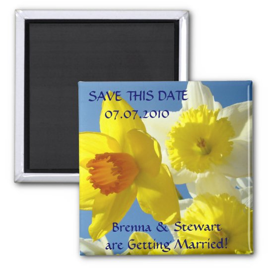 Spring Daffodil Flowers Save this Date magnet