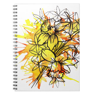 spring Daffodil Notebook