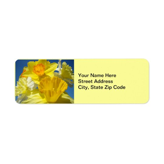 Spring Daffodils Address Labels stickers Floral