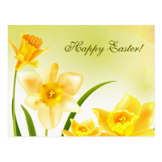Spring Daffodils. Customizable Easter Postcards