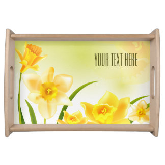 Spring Daffodils Design Easter Serving Tray. Serving Tray
